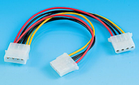 SATA Power Cable 15cm 1 to 2 Style No. SATA-002b