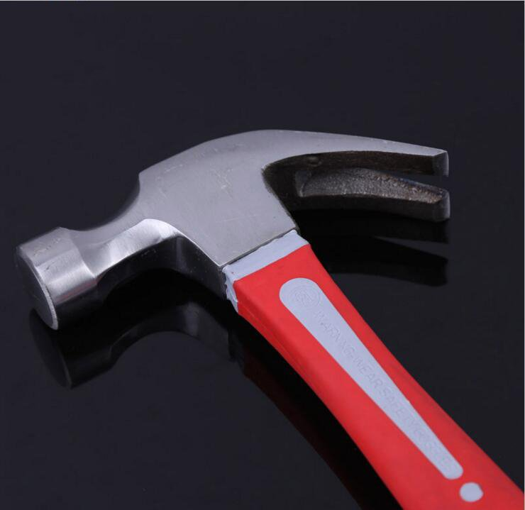 American Type Hand Tool Claw Hammer with Fiberglass Handle