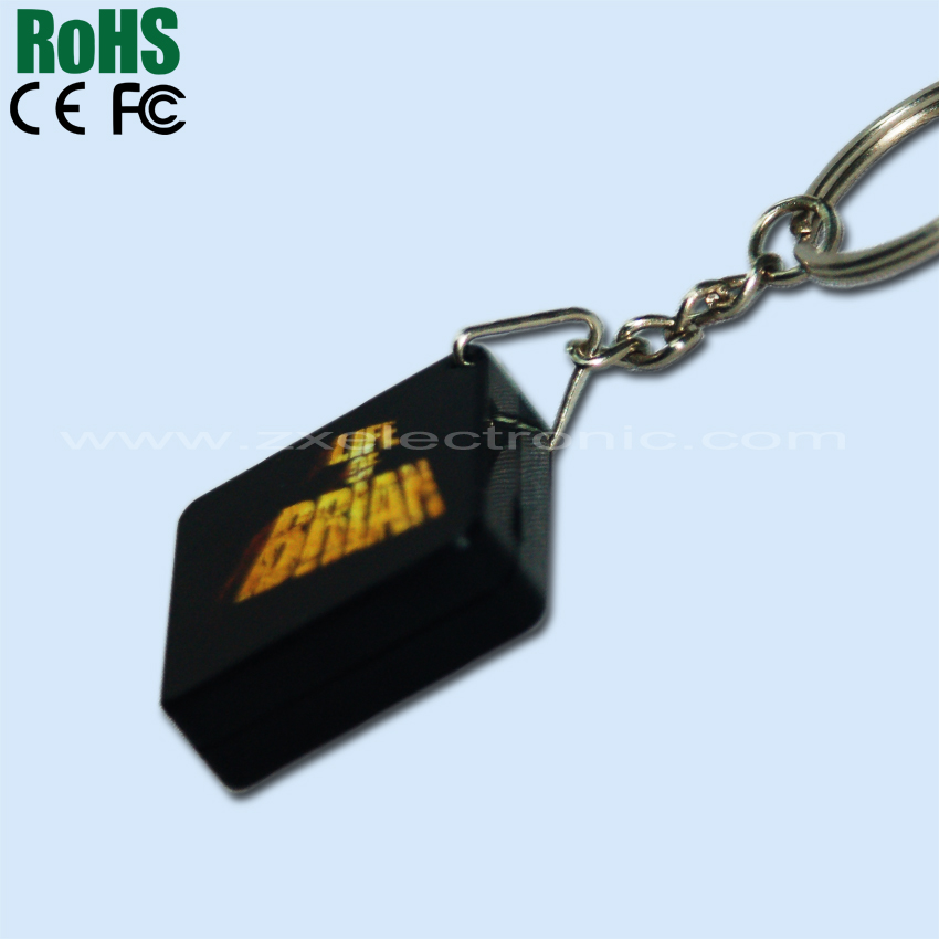 ABS Plastic Box Square Shape Custom Sound Keychain