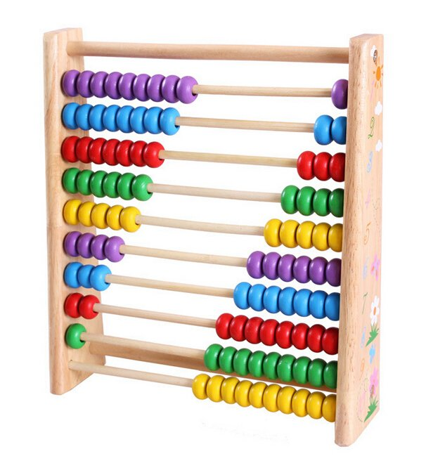 Eco-friendly wooden abacus