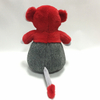 Plush Shy Mouse with Heart Dressed Mouse Plush Toy