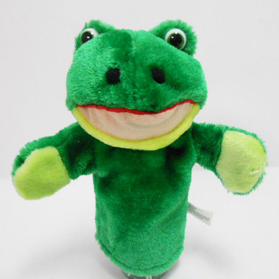 Plush Soft Toy Frog Hand Puppet for Kids