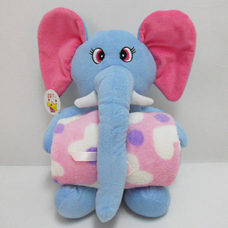Safe And Harmless PP Cotton Elephant Plush Animal Pillow Blanket