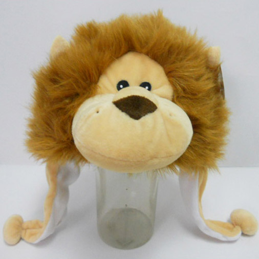 Soft Plush Toy Lion Winter Hat for Kids