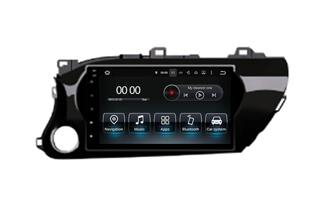 Car GPS Navigation DVD Radio Stereo WiFi Android 8.0 For Toyota Hilux 2015- 10.1'' (Fits: Toyota Hilux)