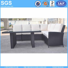 Rattan Furniture Corner Sofa with Dining Table