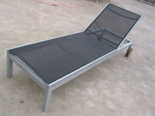 Hot Sale Reclining Beach Chair Textiline Aluminum Sun Lounger