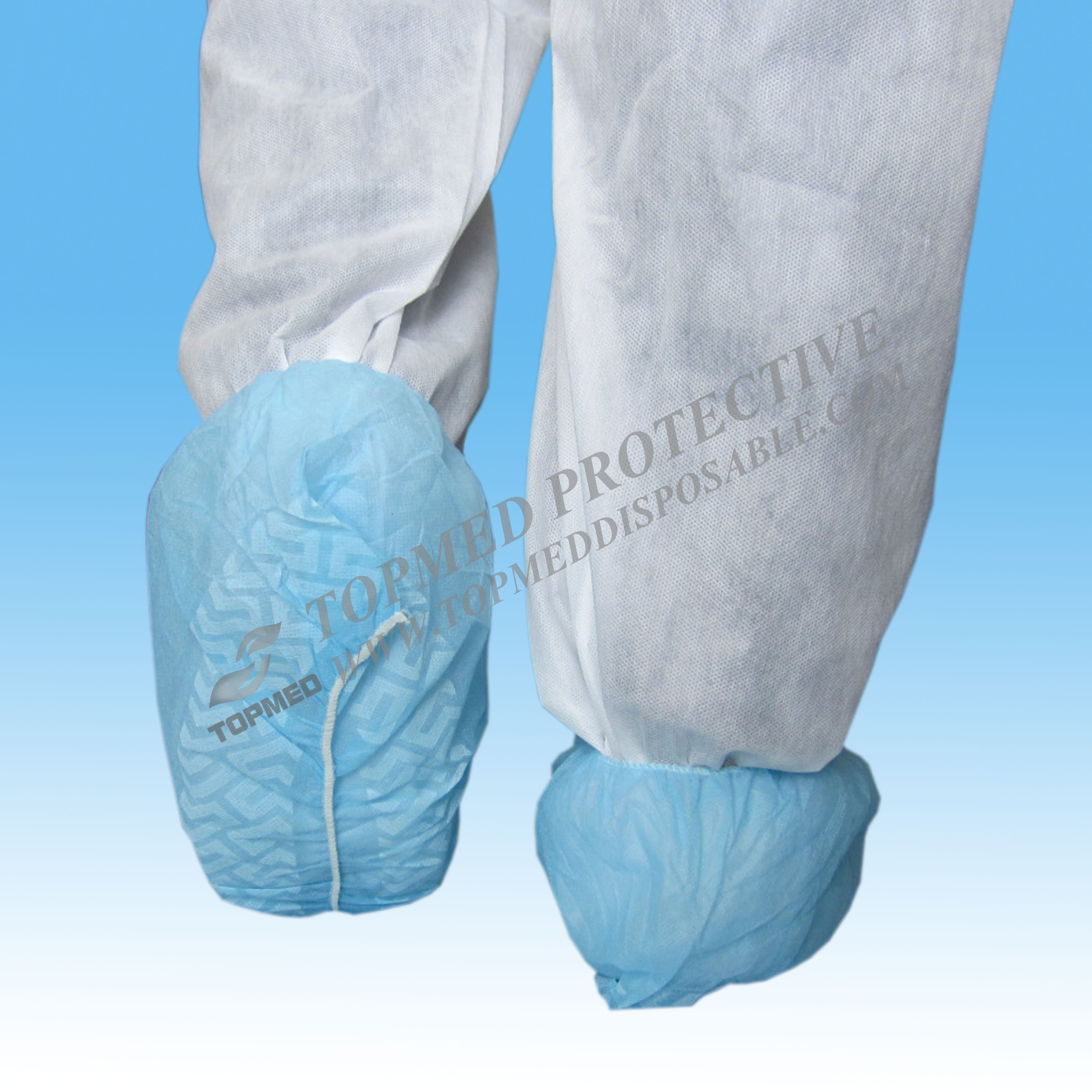 Environmental Medical Non Woven Disposable Anti-skid Shoe Cover for Lab Hospital Clean Room