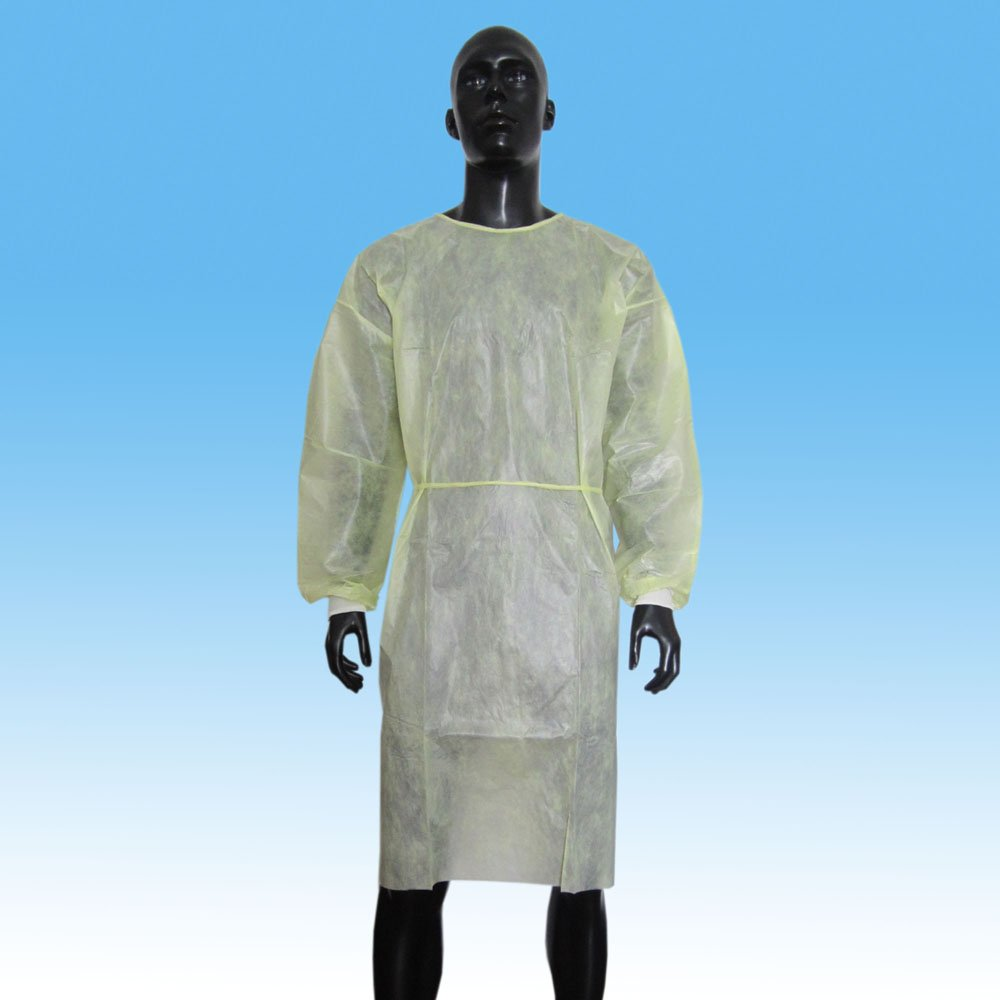 Waterproof PP+PE Isolation Gown with Knitted Cuff - Buy PP+PE ...