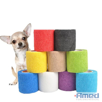 Pet Horse Dog Cat Vet Wound Elastic Cohesive Bandage Self Adherent Wrap Tape
