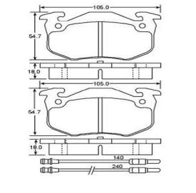 Brake pad for CITROEN
