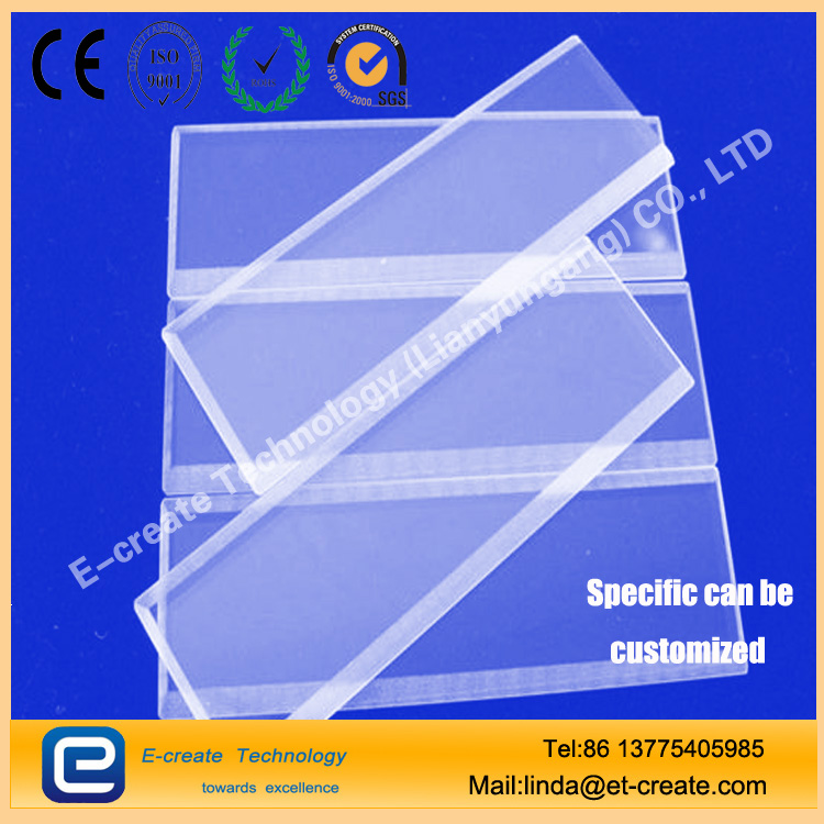 Quartz microchannel Micropore processing Slotted quartz piece Wireway Groove High - precision customized quartz chip