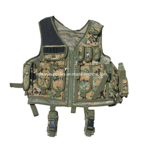 (1144) Digital Camouflage Tactical Vest