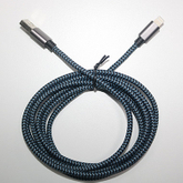 Blue Black Apple Data Cable