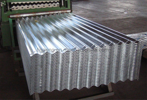 Corrugated Zinc Coated Metal Plate Galvanized Steel Sheet for Roof and Wall