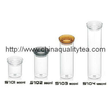 Tea canister- glass tea caniter