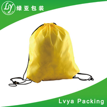 Eco Gym Sport Backpack Waterproof Mini Nylon Polyester Drawstring Bag