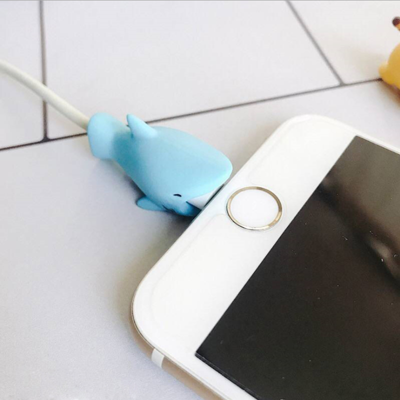 2018 Cartoon Cute Animal Cable Protecting Cover for Lightning Phone Charging Cable Protector Saver Cover for USB Cable Cord