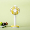 New Macaron Rechargeable Handheld Fan with Mirror USB Refreshing Desktop Office Colorful Handheld Fan