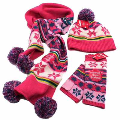 Knitted-beanie&scarf&glove-sets
