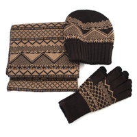 Fashion knitted hat&scarf&glove sets