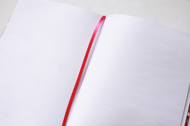 Hardcover notebook with elastic