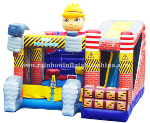 RB3009(7x5.5m)Inflatables Workers Cartoon Bouncer Castle