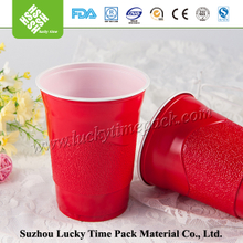 Custom Shape Made Red Plastic Cup