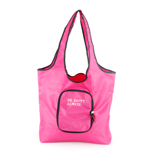 Foldable nylon shopper bag