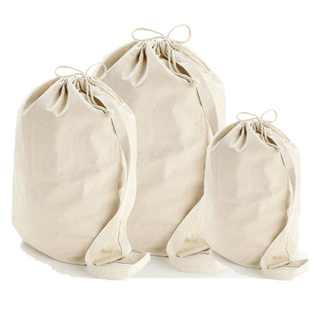 Heavy Duty Durable Natural Cotton Canvas Laundry Bag