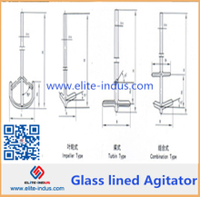 Glass lined agitator