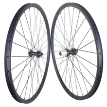 29er mtb carbon wheels 27mm width center lock 6 bolts lock tubeless carbon wheelset