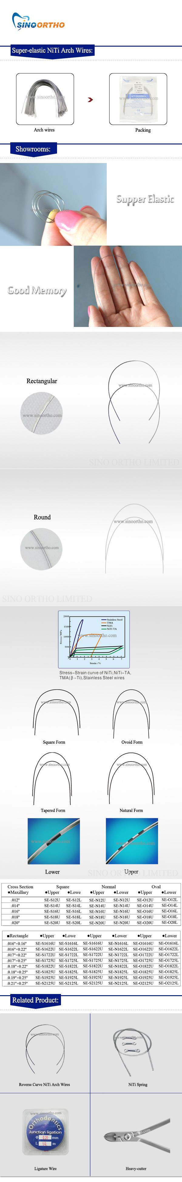 super-elastic-Niti-Arch-Wires