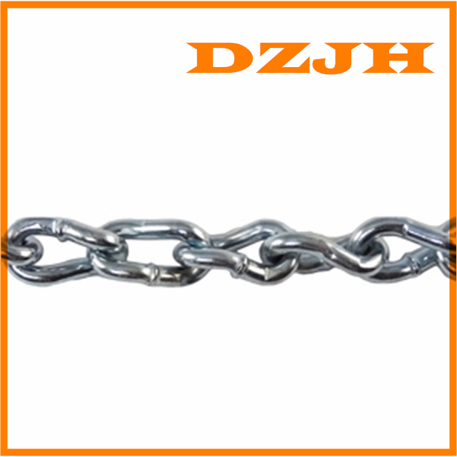 Welded steel twist-link chain with long-link pattern (coil)