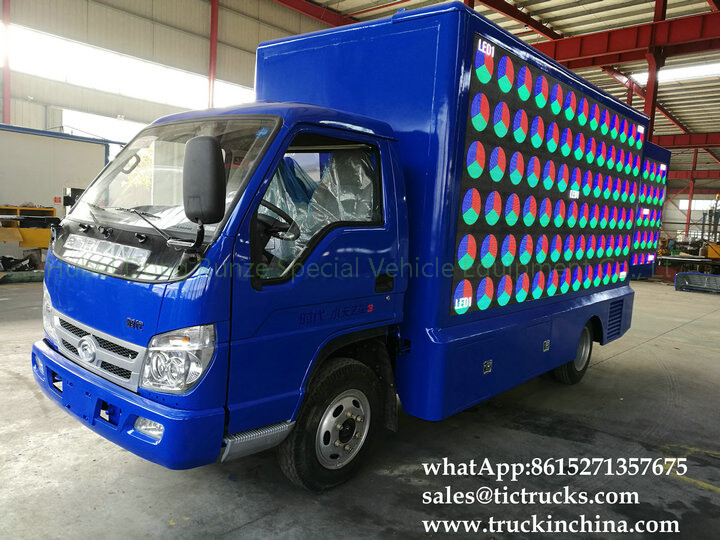 Foton 4x2 LED stage truck-17-factory-LED advertise truck