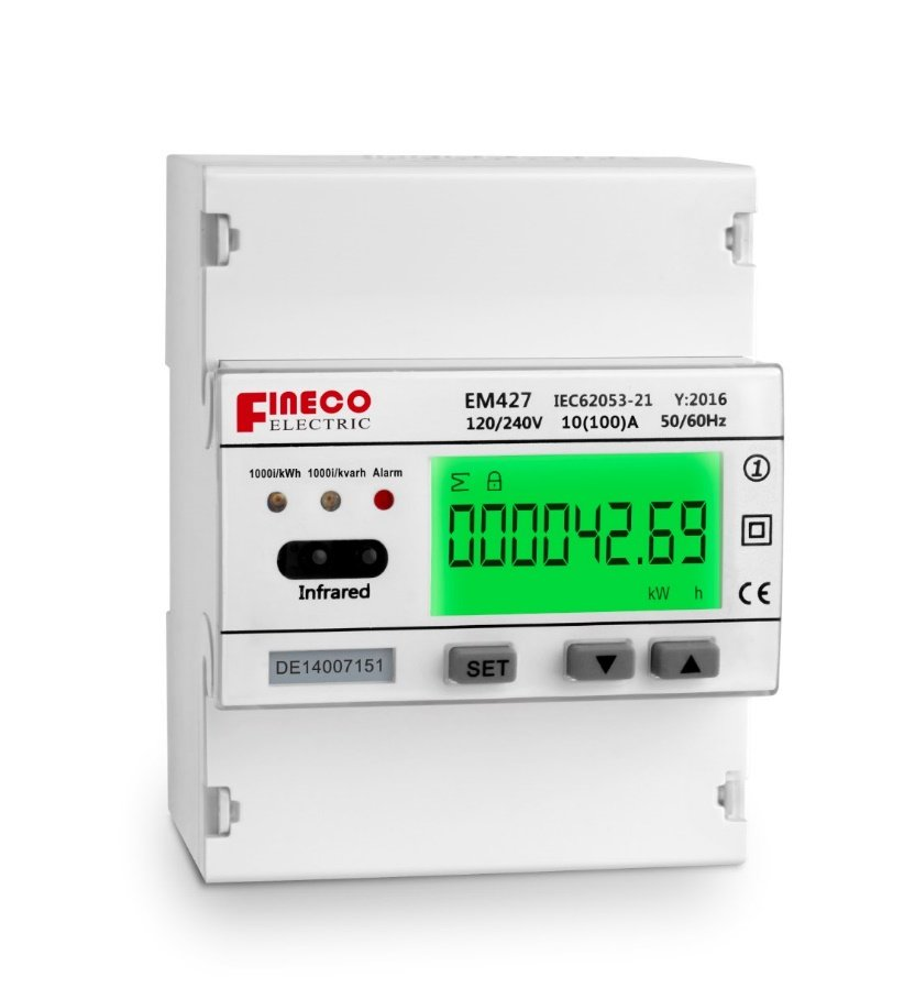 EM427 120/240V 10(100)A single phase three wire digital smart ...