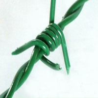 PVC Coated Boundary Protecting Double Twisted Barb Barbed Wire
