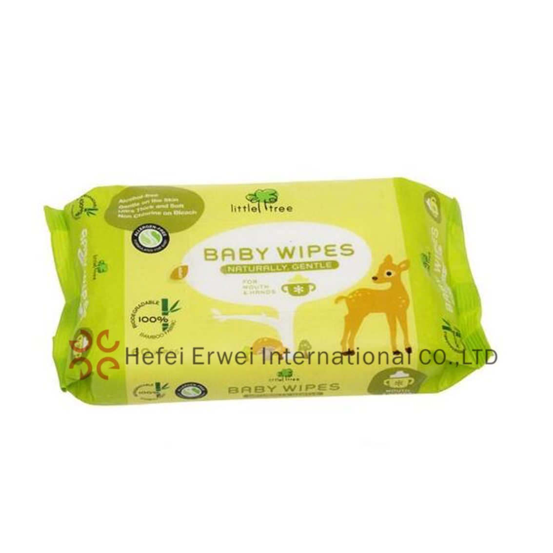 Flushable Baby Wipes with Aloe Vera