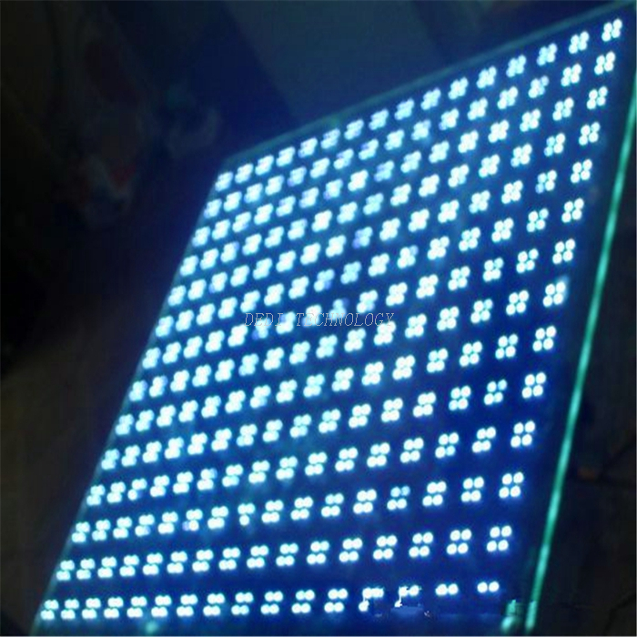 New Fashion Building Safe Smart Glass Design Flashing LED Glass Shelf