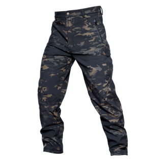 Military Dark Camouflage Softshell Pant with Shark Pattern