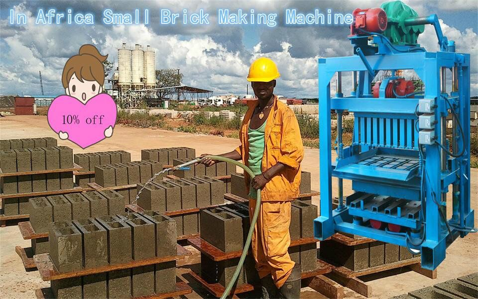 IN AFRICA SMALL BRICK MACHINE