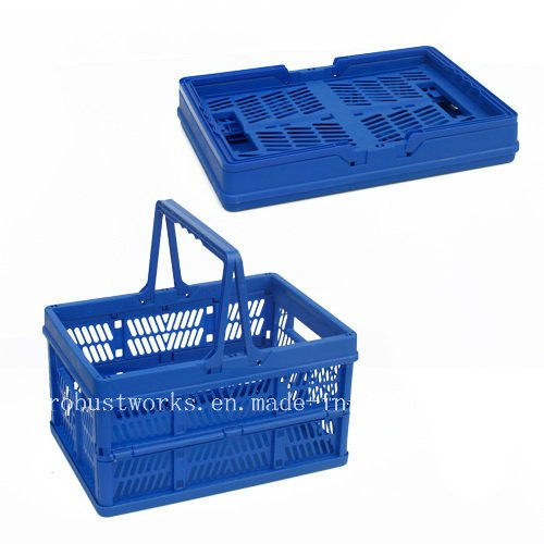 Large Size Folding Plastic Basket (FB003B)