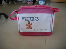 Diaper Milk Power Logo Printed Promotional Gift PVC Baby Bag