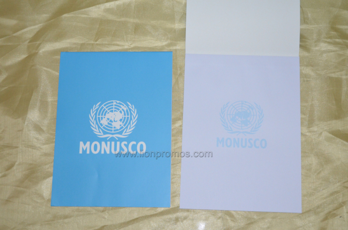 United Nation MONUSCO Water Mark Logo Printing A4 Size Office USE Sticky Memo Book