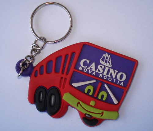 Custom Shape Logo Promotional Gift Silicone PVC key Chain