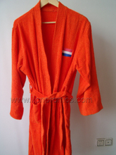 Custom Logo Embroidery Coral Fleece Bath Gown