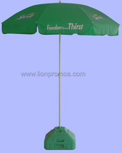 Spirit Coca Cola Beverage Beer etc Vendor Promotional Gift Polyester Parasol with Water Base