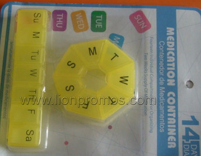 Medical Promotional Gift Portable Travel Weekly Pill Box