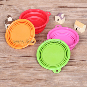 Custom Logo Travel Portable Silicone Foldable Bowl