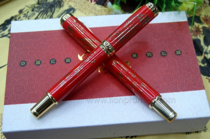 High Grade Business Gift Chinese Elements China Red Ceramic Pen